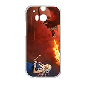 HUAH Flame of dinosaur and lovely girl Cell Phone Case for LG G2