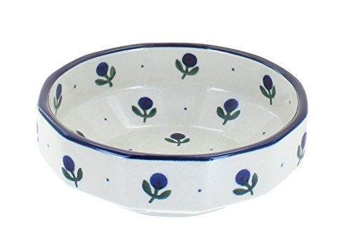 Polish Pottery Blueberry Small Angular Bowl