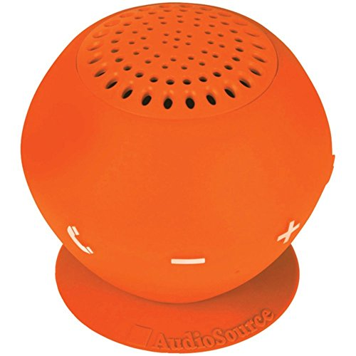 AUDIOSOURCE SP2ORA Sound pOp 2(TM) Water-Resistant Bluetooth(R) Speaker (Orange) Electronic Accessories