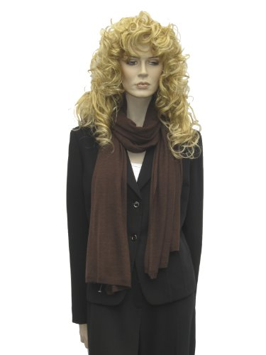 Cashmere Pashmina Group: Cashmere Scarf Shawl Stole Wrap (Sweater Knit Cashmere Shawl) Coffee by Cashmere Pashmina Group