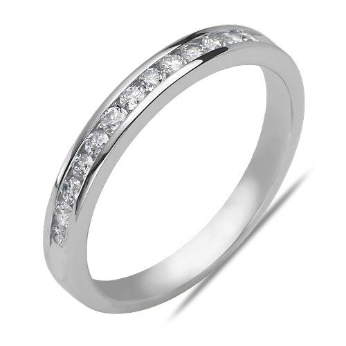 Ladies 1/7CT Diamond Anniversary Band in 14k White Gold