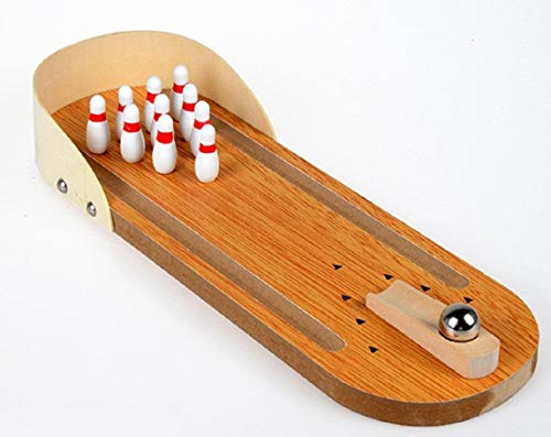 Tabletop Bowling Game Mini Bowling Set Wooden Game