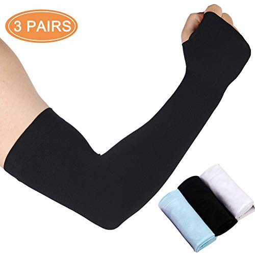 bcb0fdff UV Protecttion Cooling Arm Sleeves,UPF 50 Sun Protection Sleeves for Men  and Women Cooler