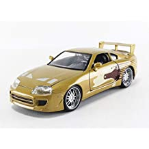 Jada 2 Fast 2 Furious Slap Jack's Toyota Supra Die-Cast Collectible Toy Vehicle Car, Gold with Decals, 1:24 Scale, Copper