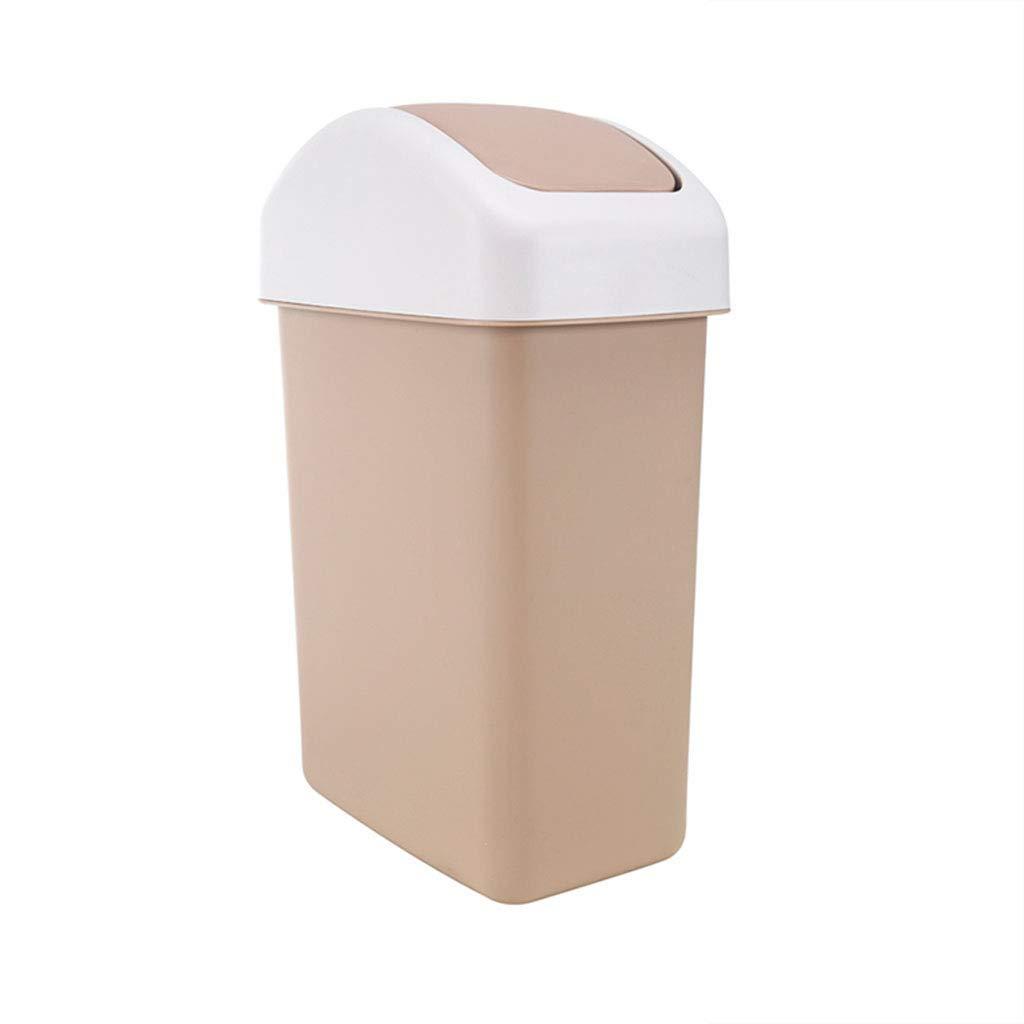 Pattumiera Scuotere Design Pattumiera Cucina Soggiorno Rifiuti Plastica PP Ecologico E Durevole 20L Colore: Beige