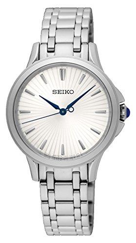 Seiko Reloj Analogico para Mujer de Cuarzo con Correa en Acero Inoxidable SRZ491P1: Amazon.es: Relojes