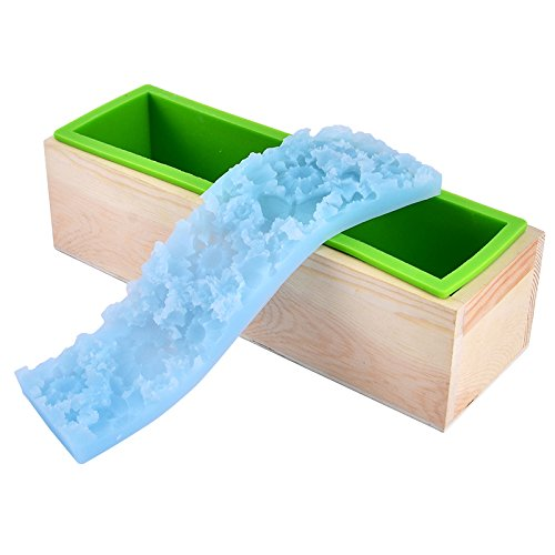 Nicole Loaf Silicone Soap Mold Set Rectangular Toast Mould with Flower Mat for Handmade Decoration Soap
