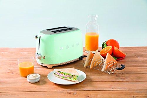 Smeg Kühlschrank Einstellen : Amazon smeg tsf pgeu toaster scheiben pastellgrün