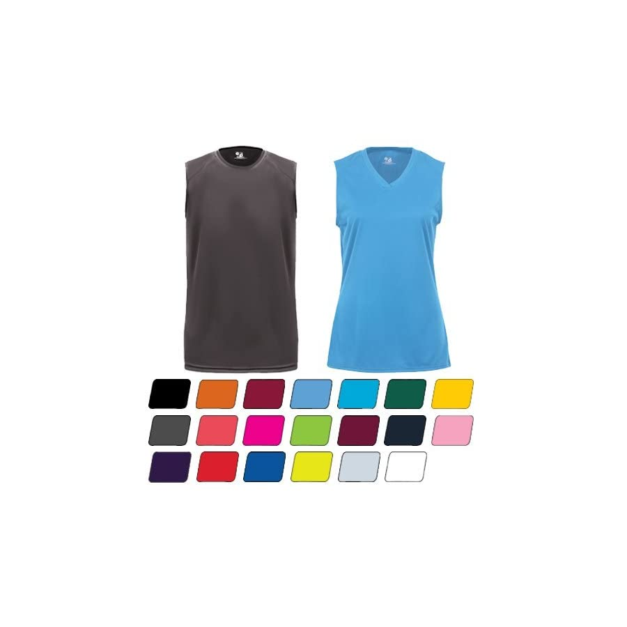 Tank Top Adult, Ladies & Youth Sizes Sleeveless Athletic Wicking Shirt (Available in 14 Different Colors)