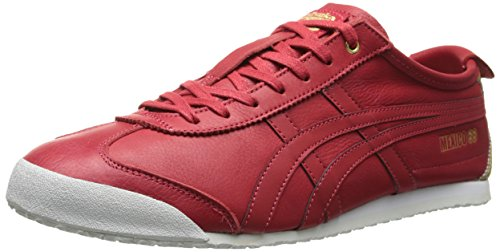 Onitsuka Tiger Mexico 66 Classic Running Shoe, Red/Red, 10 M US
