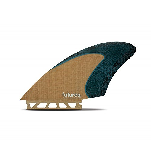 Future Fins Rasta Honeycomb Keel Fins, Jute/Teal by Future Fins