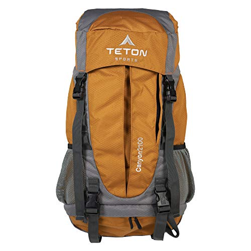 TETON Sports Canyon 2100 Backpack Perfect for Entry-Level Canyoneering - Not Your Basic Backpack; High-Performance Backpack for Hiking, Camping, Travel, and Outdoor Activities; Sewn-in Rain Cover