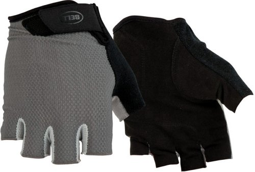 Bell Breeze 300 1/2 Finger Biking Gloves, Black/Gray, Large/X-Large