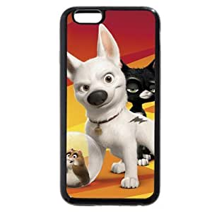 Customized Black Soft Rubber(TPU) Disney Cartoon Movie Bolt iPhone 4.7 Case, Only fit iPhone 6 4.7""