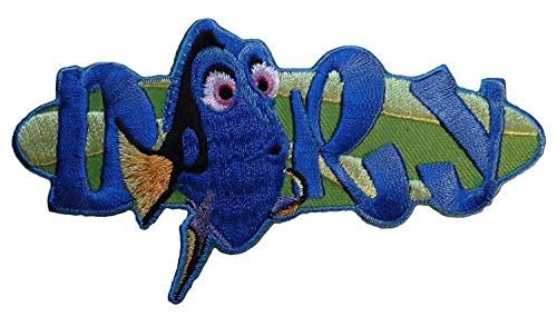 Mainstreet 247 Cartoon Dory Character and Name 3.5 Inches Wide Embroidered Patch -