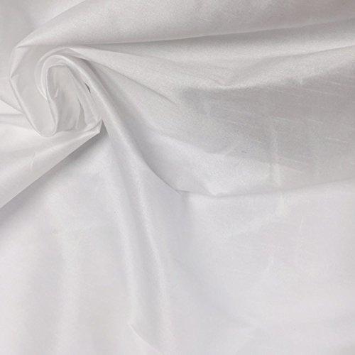 (2 Yard, Poly Dupioni Faux Silk Fabric, Top Quality, White, 60