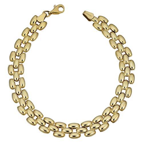 Kooljewelry 10k Yellow Gold Panther Bracelet (8 mm, 7.5 inch)