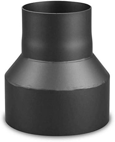 EHV - Tubo reductor de 180 mm a 120 mm para salida de humos, color negro: Amazon.es: Bricolaje y herramientas