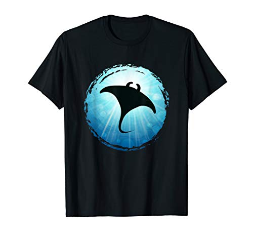 Manta Ray blue Ocean Scuba Diving Freediving Sea Shirt Gift
