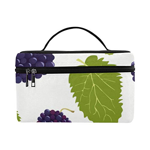 Patterns With Mulberry Fruits Pattern Lunch Box Tote Bag Lunch Holder Insulated Lunch Cooler Bag For ()