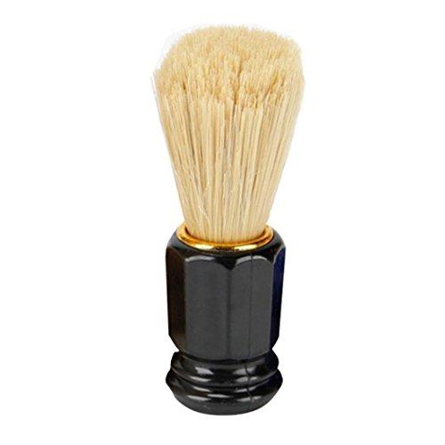 Pulison(TM) Men Shaving Beard Brush Best Nylon Hair Shave Wood Handle Razor Barber Tool (Black)