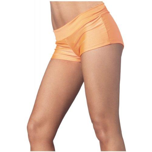 Leg Avenue Spandex Boy Shorts, Small, Orange