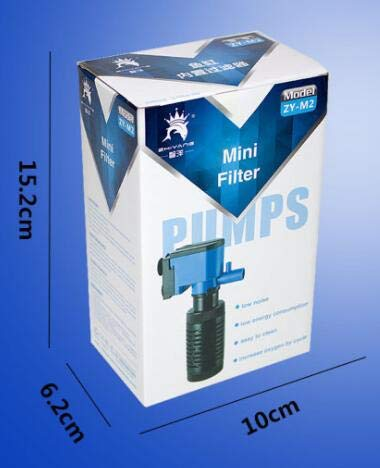 Aquarium Filter Triple Aquarium Oxygen Filter Pump Cleaning Tool Triple Filter skimmer Aquarium Decoration Accessories   bluee, M