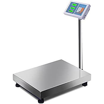Giantex 660lbs Weight Computing Digital Scale Floor Platform Scale Postal Scale Accurate Shipping Mailing LB/KG Price Calculator Stainless Steel ...