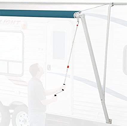 Carefree 850001 White Pioneer Crank-Out RV Awning Upgrade Endcap Kit