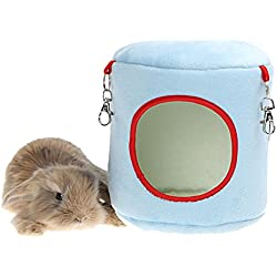 Warm Rabbit Hanging Bed 6.3 X 6.3 X 7.8 Inch Random Color