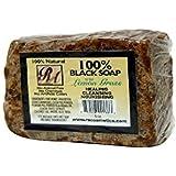 RA Cosmetics 100% Black Soap, Lemon Grass, 5 oz