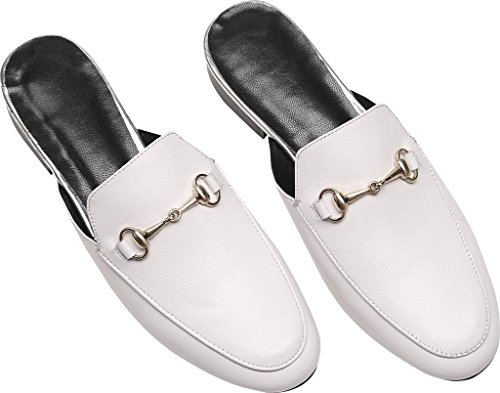 U Loafers lite Horsebit Leather White detailed Mule Women's fxHfgqrwU