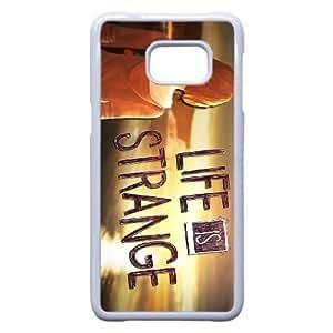La vida es extraña Plus Nota 5 Borde caja del teléfono celular K4F3Ne Funda Samsung Galaxy S6 Edge funda blanca U2E3UV barato teléfono al caso funda genérica