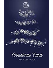 Christmas Card Address Book: 10 year address book and tracker for the Christmas cards you send and receive