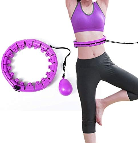 RGSHDS Weighted Smart Hoola for Exercise, 2 in 1 Abdomen Fitness Massage Smart Hoop, Auto Spinning Ball Hoop Adjustable Length for Adults Weight Loss for Fitness Aids 7