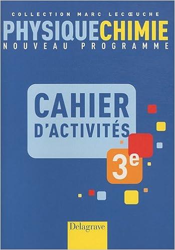 Téléchargement ebook Android gratuit Physique-Chimie 3e : Cahier d'activités PDF iBook PDB