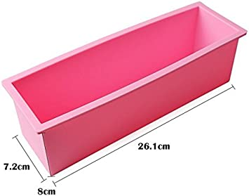 Silicone DIY Cold Processing Mold Soap Cake Toast Baking Loaf Rectangle Tools