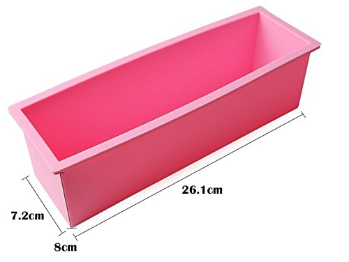 1.2L Rectangle Loaf Toast Bread Pastry Cake Soap Silicone Mold - 8