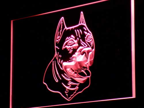 ADVPRO American Pit Bull Dog Terrier LED Neon Sign Red 16'' x 12'' st4s43-j233-r by ADVPRO