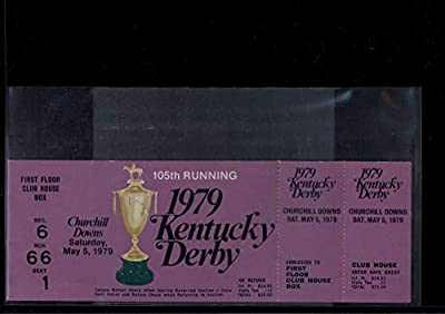 Kentucky Derby 1979 Ticket Full Size Spectacular Bid Winner Churchill Downs First Floor Club House Box