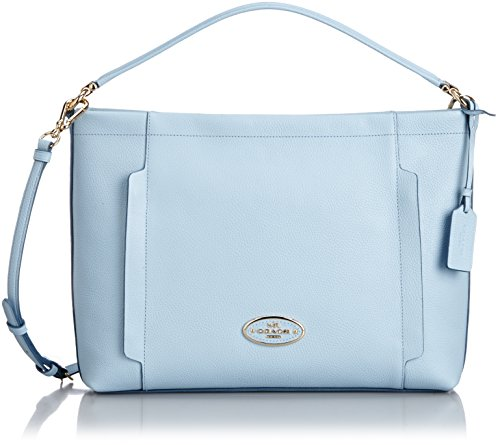 Pale Leather Blue in Hobo Pebble Coach Scout in Y7BqnZA