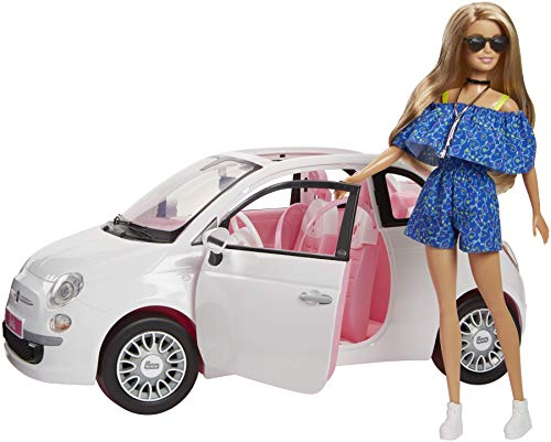 Barbie Doll Car Fiat Multi-Coloured (Mattel Spain fvr07)