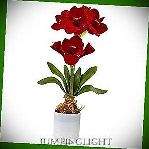 JumpingLight Silk Amaryllis Floral Arrangement Artificial Flowers Wedding Party Centerpieces Arrangements Bouquets Supplies 33