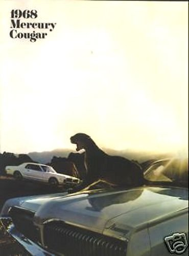 - 1968 MERCURY COUGAR - XR-7 GT GT.E DEALERSHIP SALES BROCHURE - ADVERTISMENT - OPTIONS - ACCESSORIES