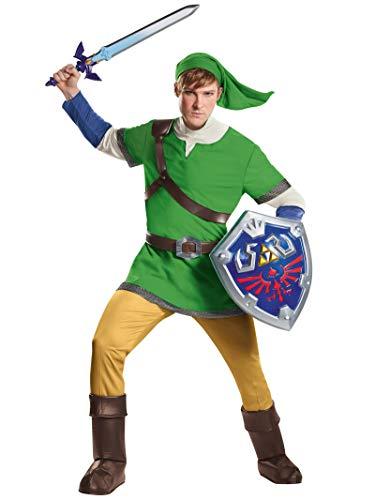 Disguise Men's Link Deluxe Adult Costume, Green,