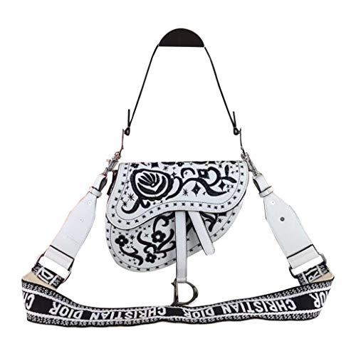 (Womens SADDLE BAG IN Canvas Dior Shoulder Bag With a Strap Handbag)