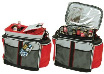 Soft Sided Cooler with Easy Open Top & Pockets (36 Can Cap.) (Random Color) by Wilcor International Inc