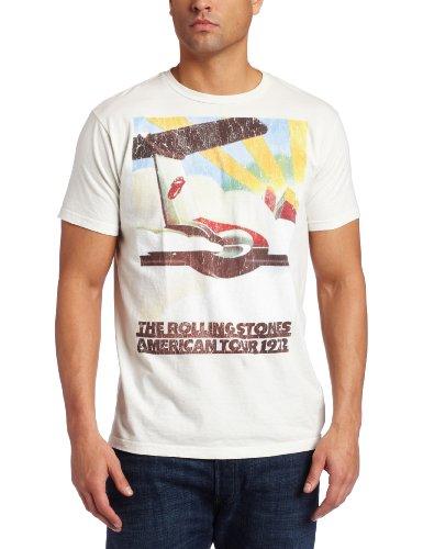 Bravado Men's The Rolling Stones 1972 Plane Tour T-Shirt, Wh