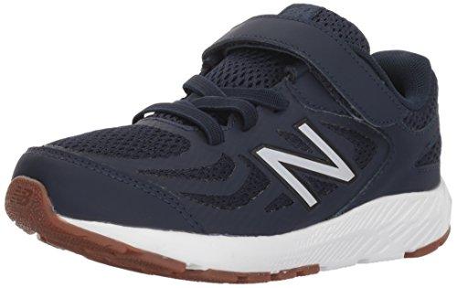 New Balance Boys' 519v1 Hook and Loop Running Shoe, Pigment/Black, 3 M US ()