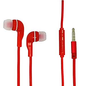 Red Color 3.5mm Audio Earphone Headphones Headset Earbuds Volume Control With Microphone Hands Free For Samsung Messager III SCH-R570